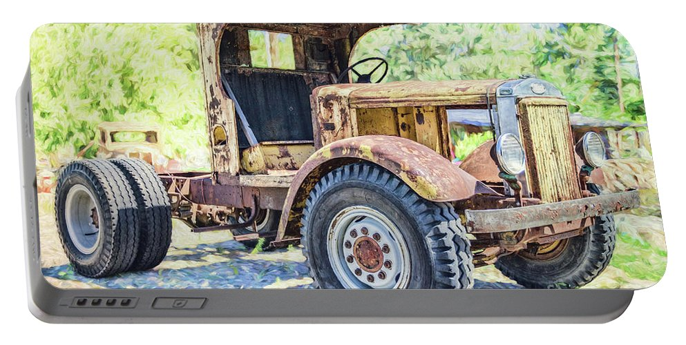 Truck Portable Battery Charger featuring the photograph Heavy Metal by Jean OKeeffe Macro Abundance Art