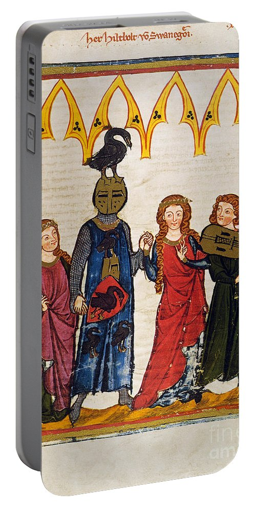 14th Century Portable Battery Charger featuring the photograph HEIDELBERG LIEDER, C.14th by Granger