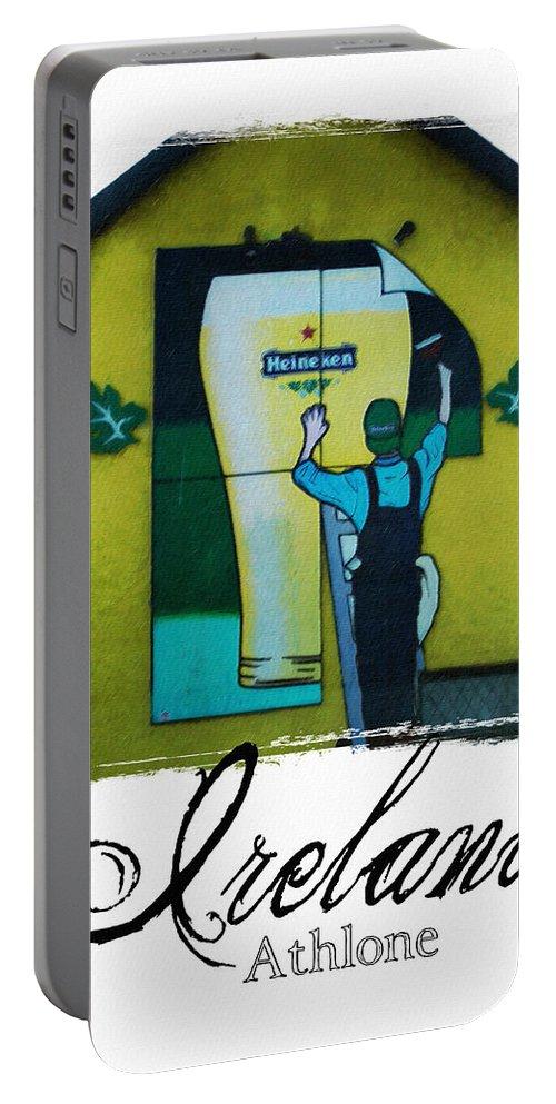 Heineken Portable Battery Charger featuring the photograph Heineken Athlone Ireland by Teresa Mucha