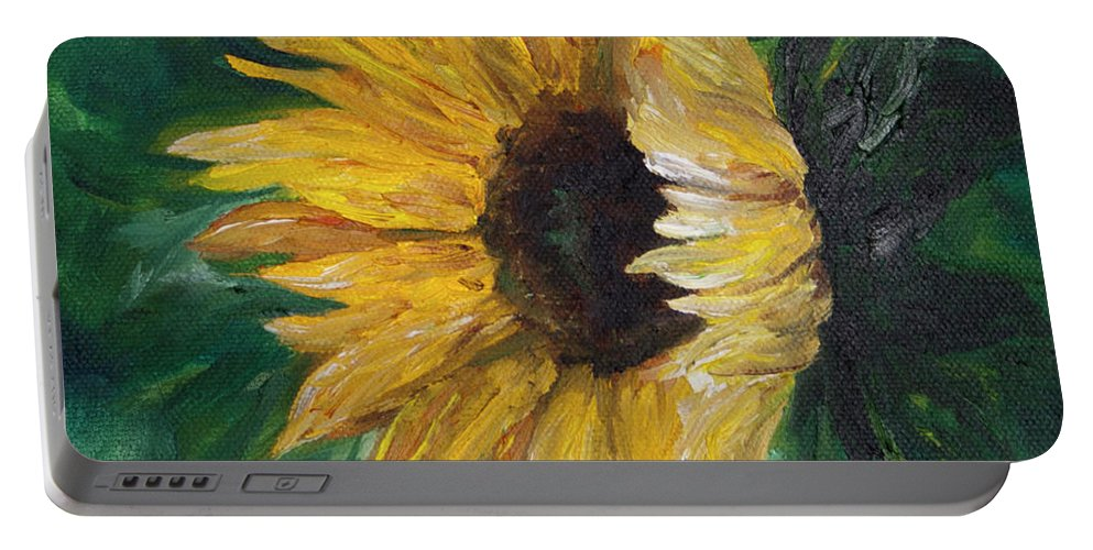 Vive And Visions Portable Battery Charger featuring the painting Helianthus by Melinda Cummings