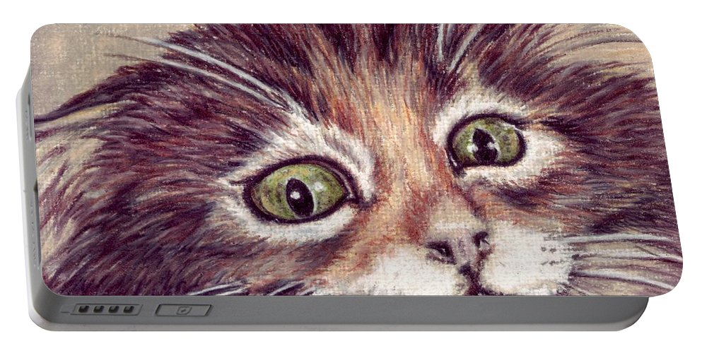 Cat Portable Battery Charger featuring the drawing Hello Clarice by Kristen Wesch
