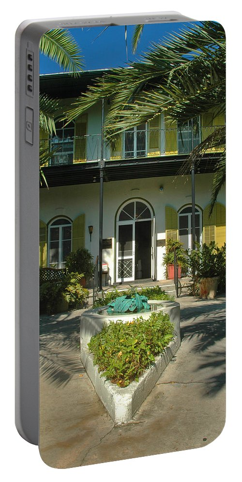 Photography Portable Battery Charger featuring the photograph Hemingways House Key West by Susanne Van Hulst