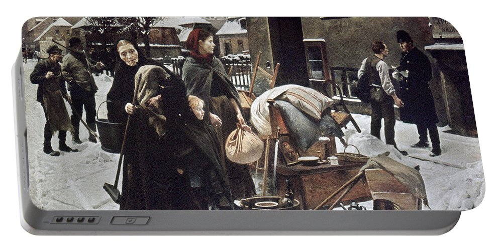 1890 Portable Battery Charger featuring the photograph Henningsen Evicted 1890 by Granger