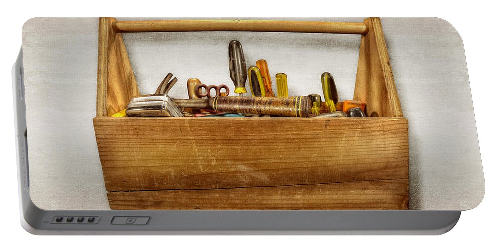 Box Portable Battery Charger featuring the photograph Henry's Toolbox by YoPedro