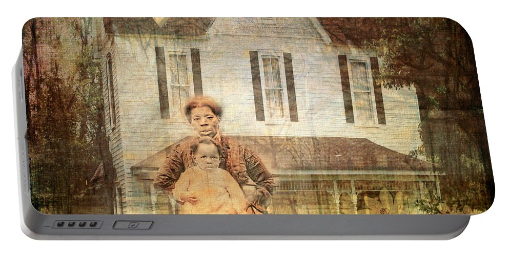 Her Memories Are Written Portable Battery Charger featuring the digital art Her Memories Are Written by Bellesouth Studio