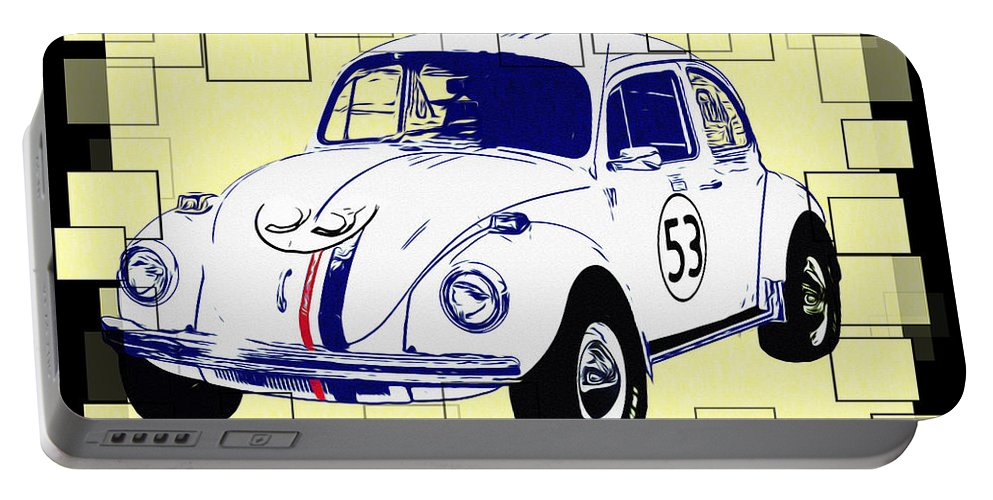 Herbie The Love Bug Portable Battery Charger featuring the photograph Herbie The Love Bug by Bill Cannon