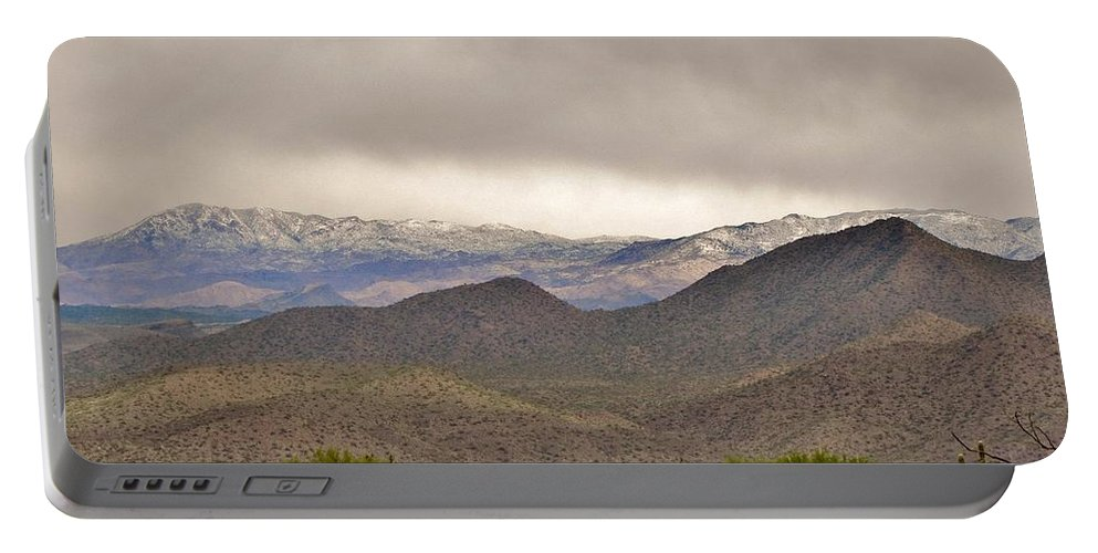 Arizona Landscape Portable Battery Charger featuring the photograph Here Comes The Sun by Marilyn Smith