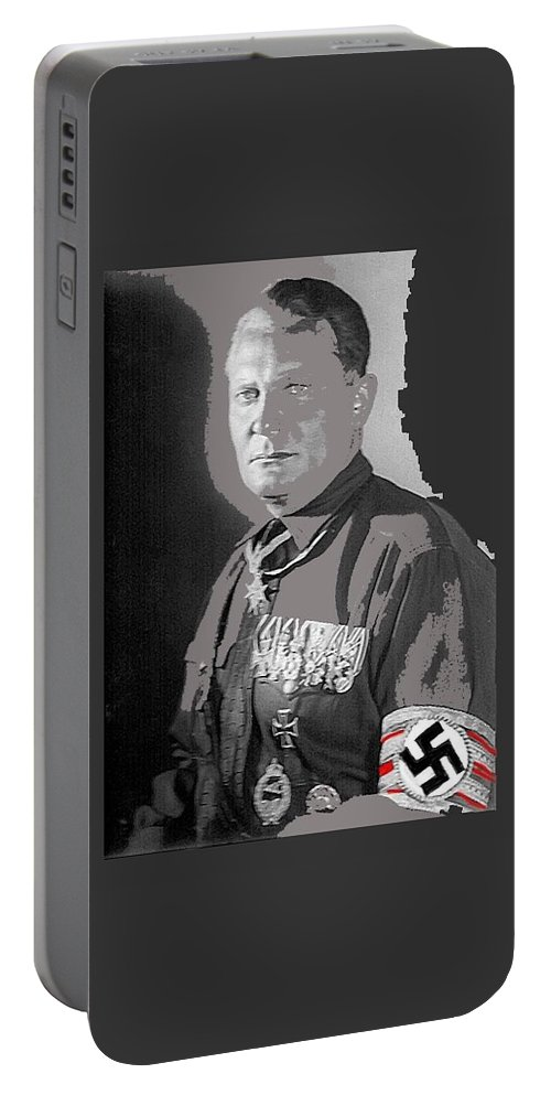 Herman Goering Portrait With His Medals Including The Blue Max Circa 1935-2016 Portable Battery Charger featuring the photograph Herman Goering Portrait With His Medals Including The Blue Max Circa 1935-2016 by David Lee Guss