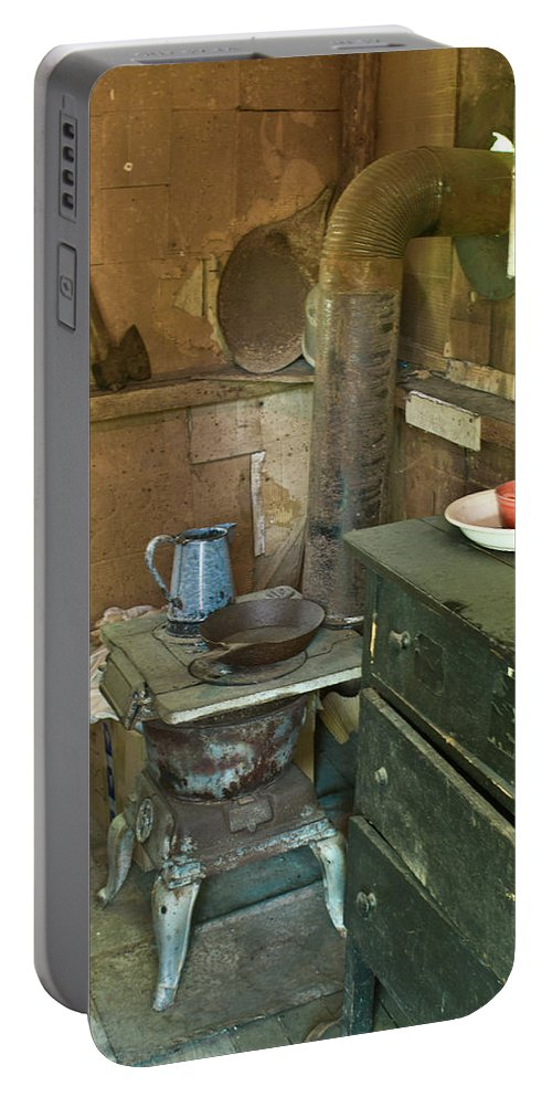 Nostalgia Portable Battery Charger featuring the photograph Hermits Cabin by Douglas Barnett