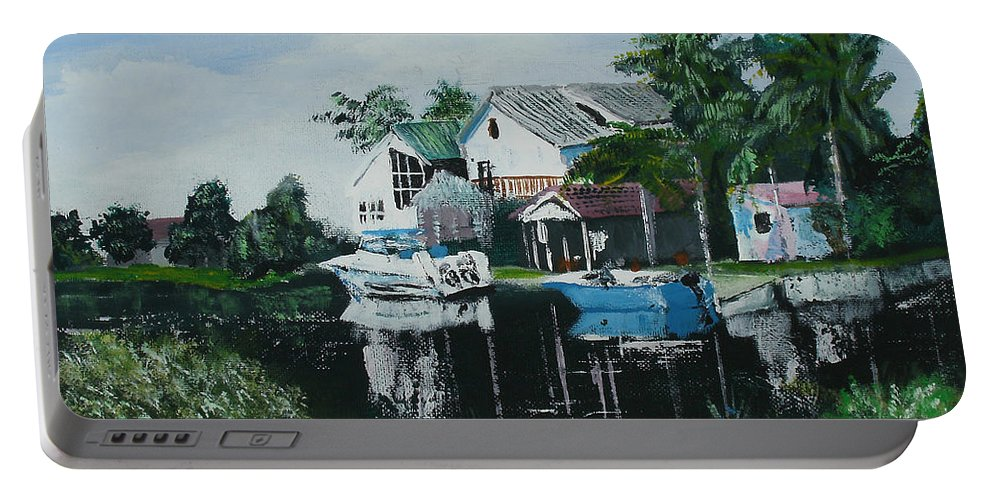 Hernando Beach Florida Portable Battery Charger featuring the painting Hernando Beach by Luis F Rodriguez