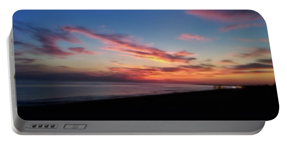 Sunset Portable Battery Charger featuring the photograph Herring Cove Provincetown by Jai Cobino