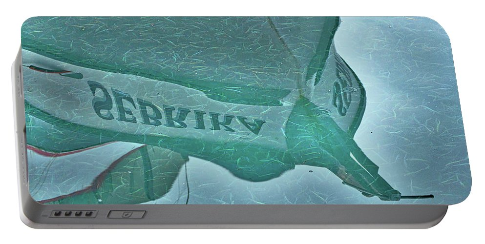 Herring Portable Battery Charger featuring the photograph Herring School by Cathy Mahnke