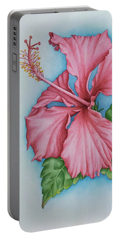 Hibiscus Dream Portable Battery Charger