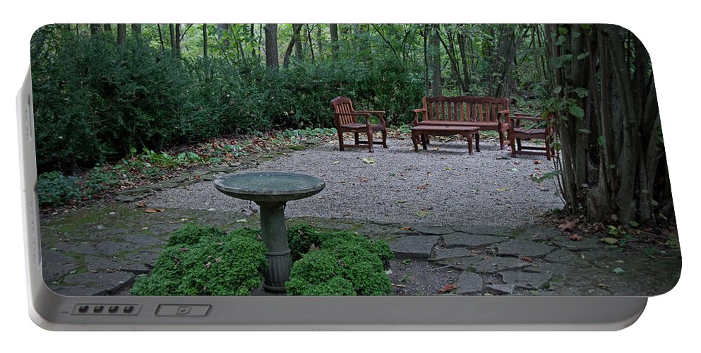 Garden Portable Battery Charger featuring the photograph Hidden Garden by David Arment