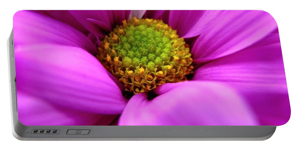 Flower Portable Battery Charger featuring the photograph Hidden Inside by Rhonda Barrett