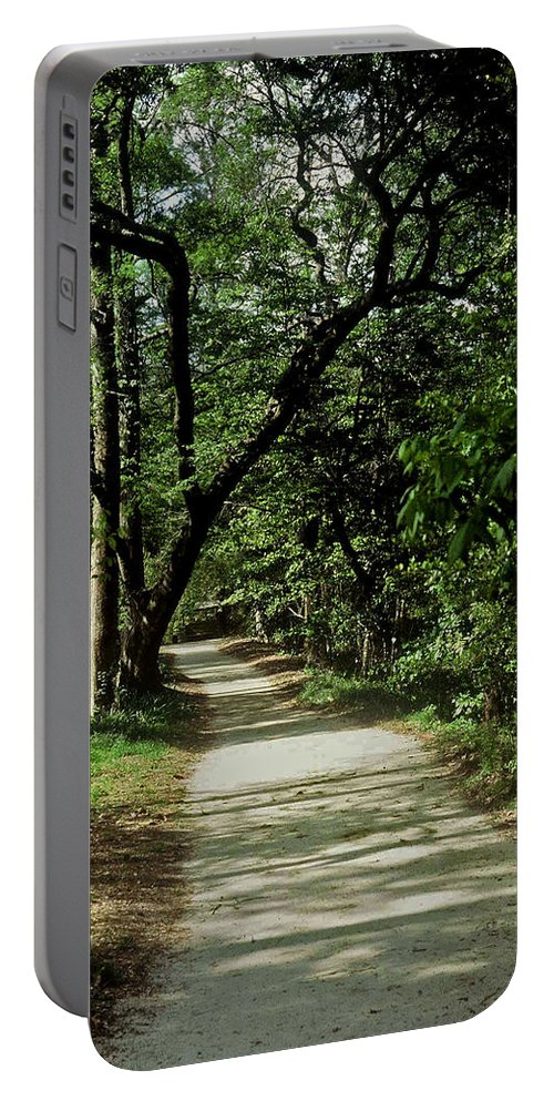 Path Portable Battery Charger featuring the photograph Hidden Path by Gary Wonning