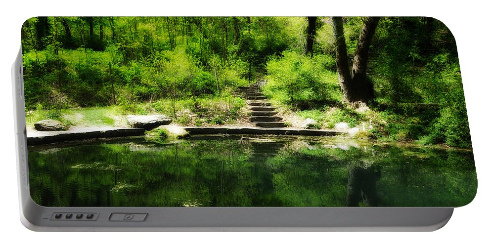 Pond Portable Battery Charger featuring the photograph Hidden Pond At Schuylkill Valley Nature Center by Bill Cannon