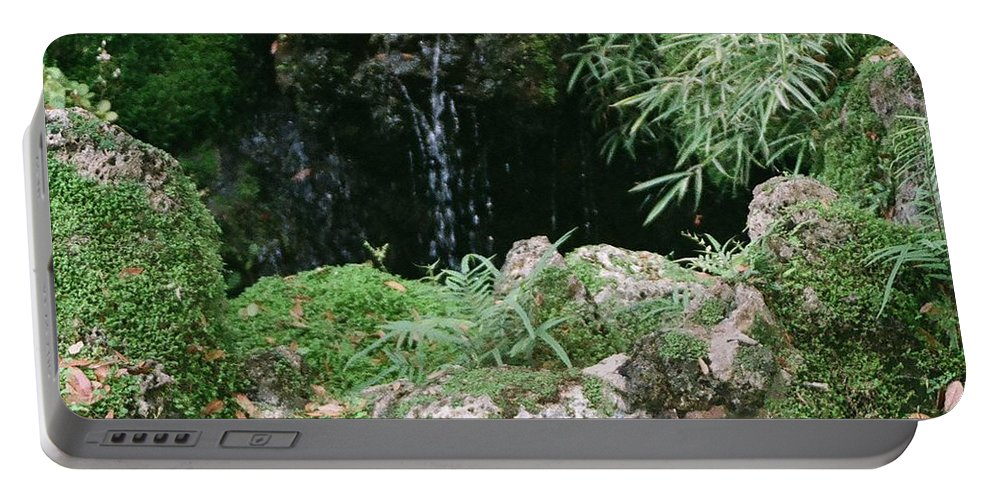 Nature Portable Battery Charger featuring the photograph Hidden Waterfall by Dean Triolo