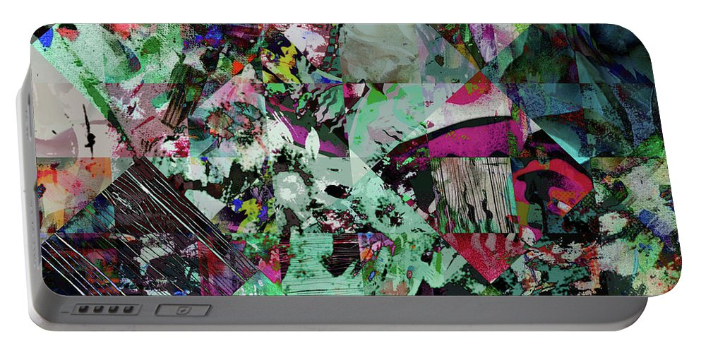 Ugly Portable Battery Charger featuring the digital art Hideopathic by Tom Deacon