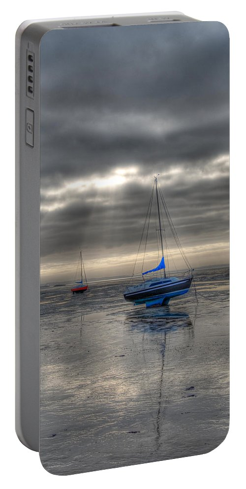 Yachts Portable Battery Charger featuring the photograph High And Dry by Chris Thaxter