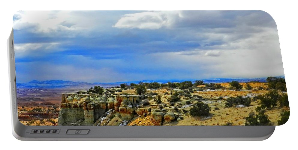 High Portable Battery Charger featuring the photograph High Desert Ridge by Elizabeth Mix