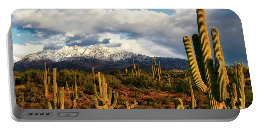 Arizona Portable Battery Charger featuring the photograph High Desert Snow by Rick Furmanek