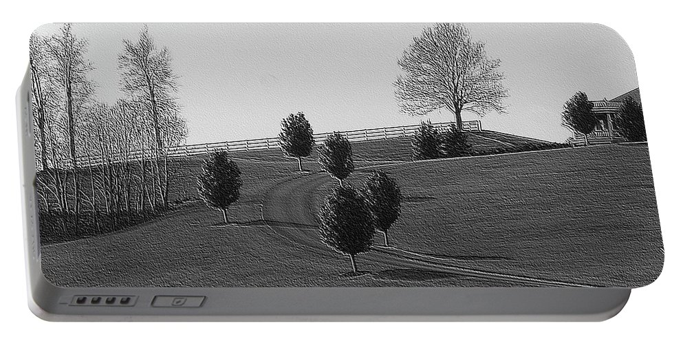 Country Portable Battery Charger featuring the photograph High On A Hill by Kathleen Struckle