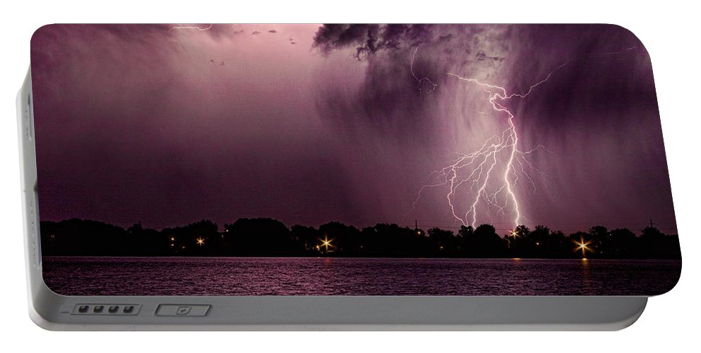 Lightning Portable Battery Charger featuring the photograph High Strike by James BO Insogna