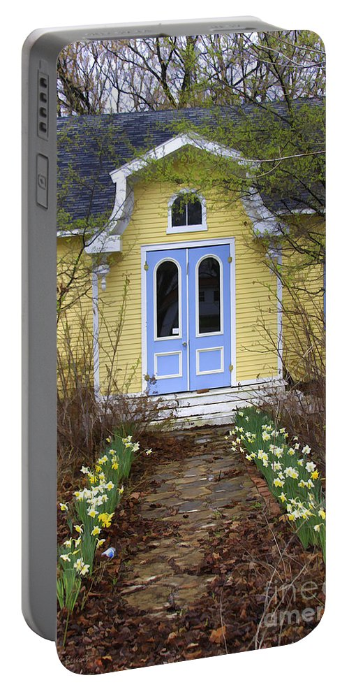 Flowers Portable Battery Charger featuring the Highgate Manor by Deborah Benoit