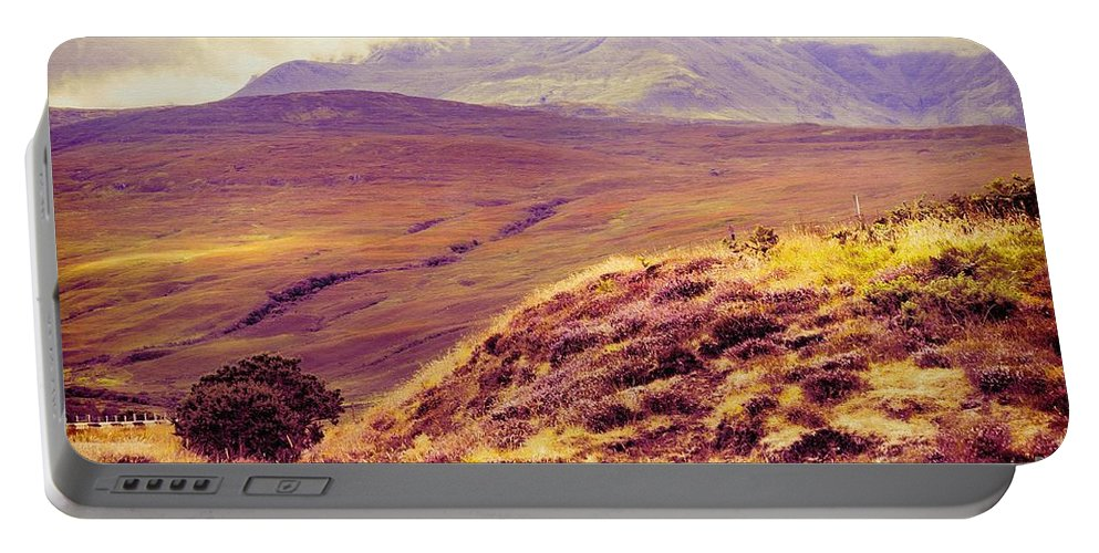 Scottish Portable Battery Charger featuring the photograph Highland Landscape by Diane Macdonald