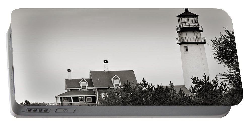 Lighthouse Portable Battery Charger featuring the photograph Highland Light At Cape Cod by Renee Hong