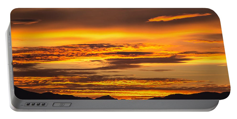 Highway Portable Battery Charger featuring the photograph Highway 2 Sunrise by Ryan McGinnis