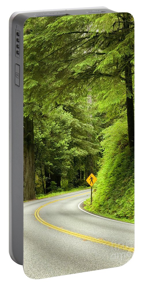 Highway Portable Battery Charger featuring the photograph Highway Curve by Inga Spence