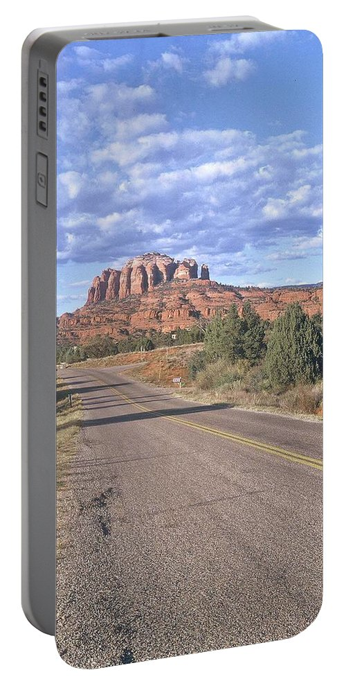 Sedona Portable Battery Charger featuring the photograph Highway To Sedona by Gary Wonning