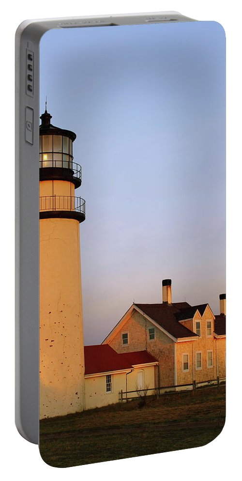 Lighthouse Portable Battery Charger featuring the photograph Higland Lighthouse Cape Cod by Roupen Baker