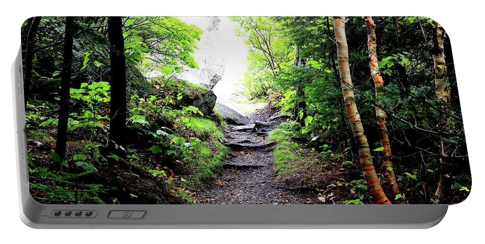 Portable Battery Charger featuring the photograph Hiking by Tina Newcomb