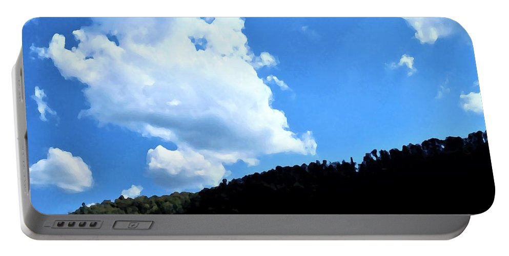 Hills Portable Battery Charger featuring the photograph Hills And Sky by Michael Potts