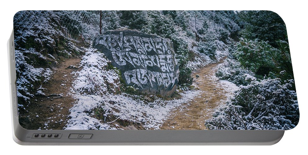 Mountains Portable Battery Charger featuring the photograph Himalayan Path by Yuka Ogava