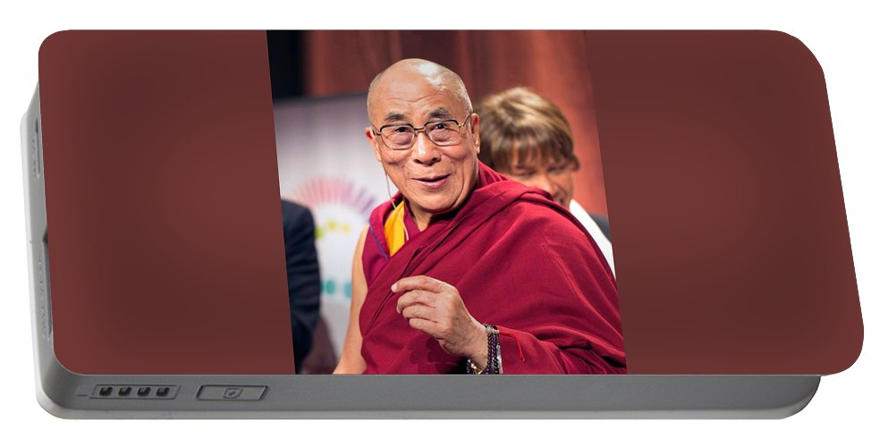 His Holiness The 14th Dalai Lama Photo Christopher Michel 2012 Portable Battery Charger featuring the photograph His Holiness The 14th Dalai Lama Photo By Christopher Michel 2012 by David Lee Guss