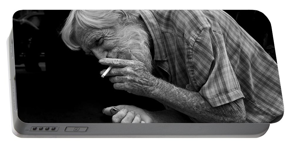 Acrylic Prints Portable Battery Charger featuring the photograph His Name Is Bow by John Herzog