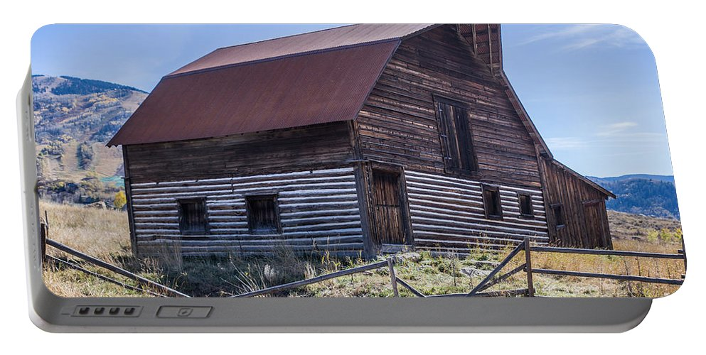 Historic Portable Battery Charger featuring the photograph Historic More Barn by Lynn Sprowl