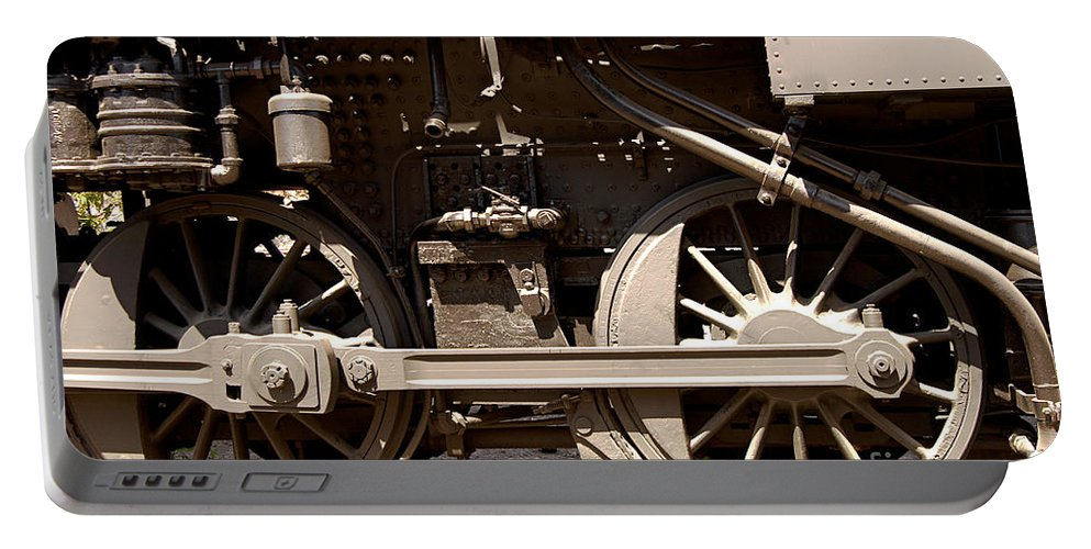 Clay Portable Battery Charger featuring the photograph Historic Trains by Clayton Bruster