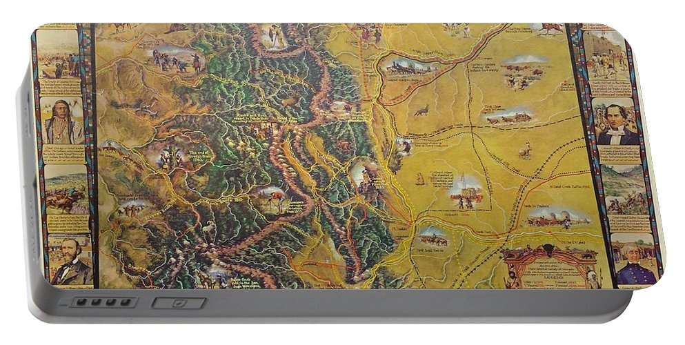 Historical Map Of Early Colorado Portable Battery Charger featuring the photograph Historical Map Of Early Colorado by Pd