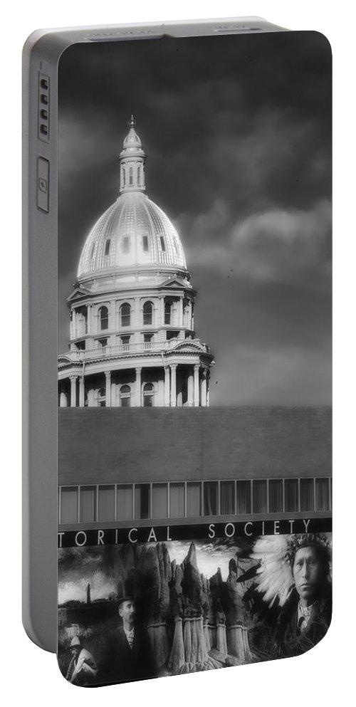 Denver Colorado Portable Battery Charger featuring the photograph Historical Society Colorado by Ron White
