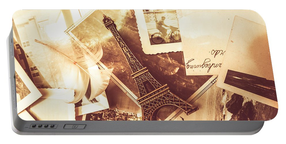 Love Portable Battery Charger featuring the photograph History And Sentiment Of Vintage Paris by Jorgo Photography - Wall Art Gallery