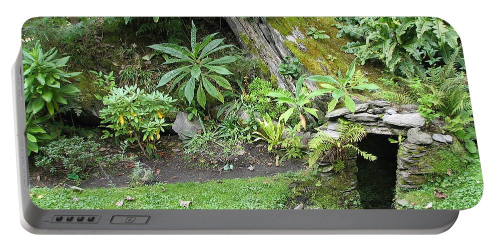 Hobbit Portable Battery Charger featuring the photograph Hobbit Home by Kelly Mezzapelle