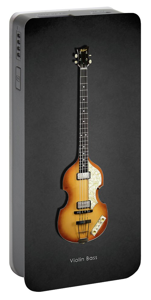 Hofner Violin Bass Portable Battery Charger featuring the photograph Hofner Violin Bass 62 by Mark Rogan