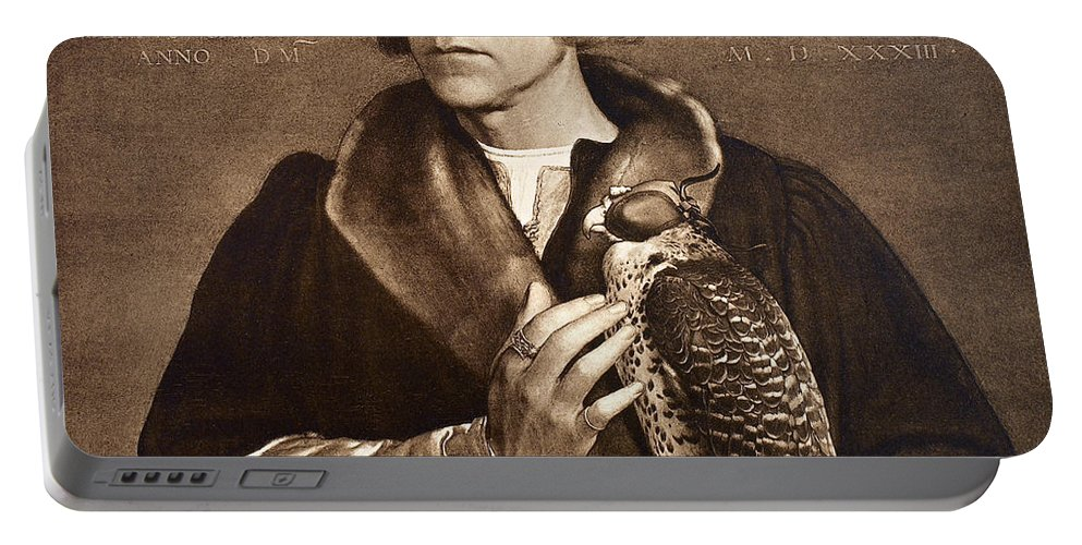 1533 Portable Battery Charger featuring the photograph Holbein: Falconer, 1533 by Granger