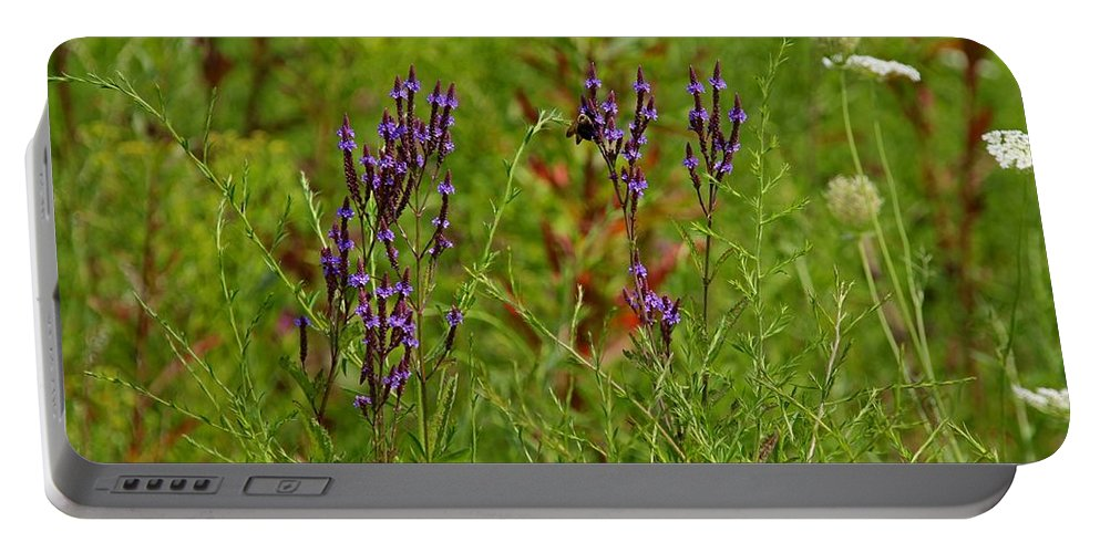 Purple Portable Battery Charger featuring the photograph Hold Me Tighter by Michiale Schneider