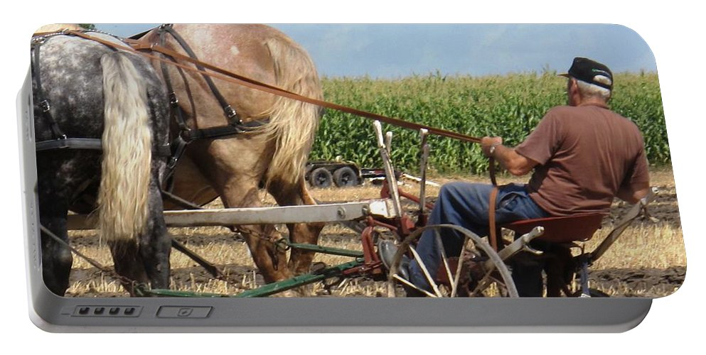 Horses Portable Battery Charger featuring the photograph Hold Your Horses by Ian MacDonald